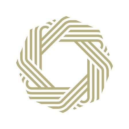 Logo octagon vector abstract icon