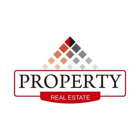 logo recyclage: Logo immobilier bâtiment symbole de vecteur de la maison Illustration