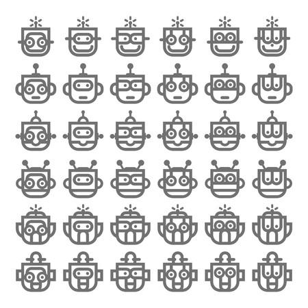 robot head: Logo Robot Head Silver Technology Icon Symbol