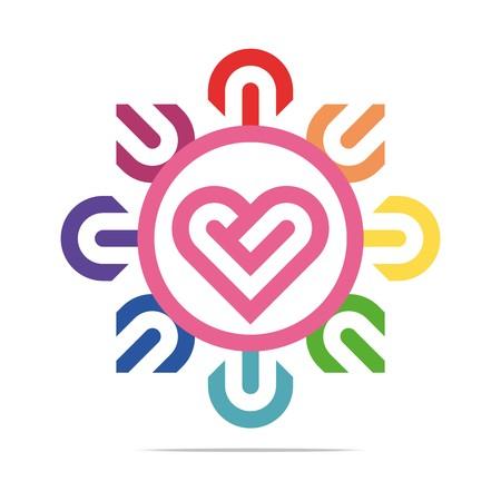 heart symbol: Abstract Logo Heart Love Circle  Design Vector Business