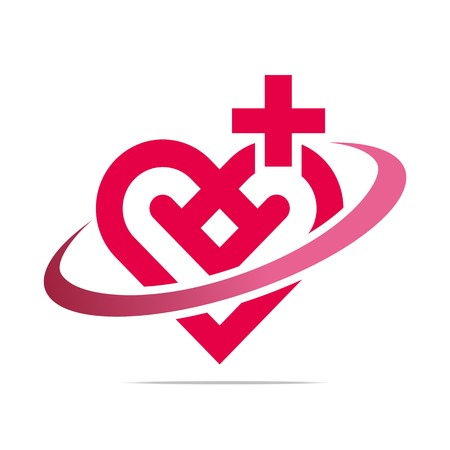 looped shape: Abstract Logo Healthy Heart Love Design Vector Business