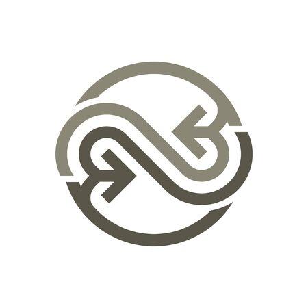 Logo Design Letter G Circle Symbol Icon Arrow Vector Illustration