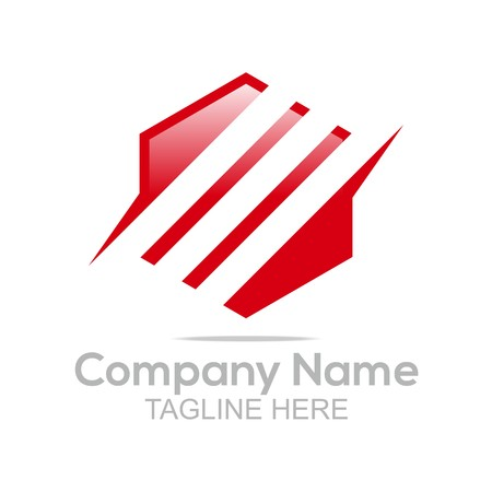 company name: Logo Design Company Name Hexagon Symbol Vector