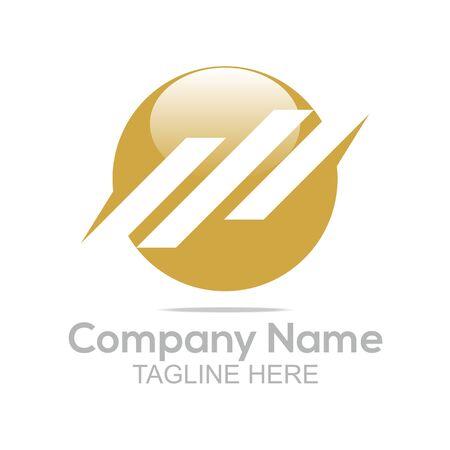 company name: Logo Design Company Name Circle Symbol Vector Illustration