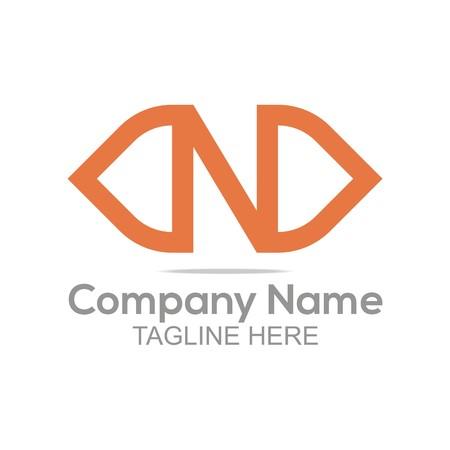 company name: Logo Design Company Name Letter N Symbol Icon