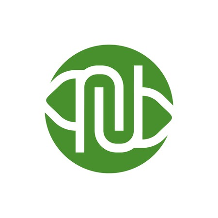genesis: Logo Design Company Name Letter N Symbol Icon