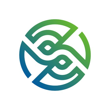 earth moving: Logo Design lettering S Abstract Vector Symbol Icon