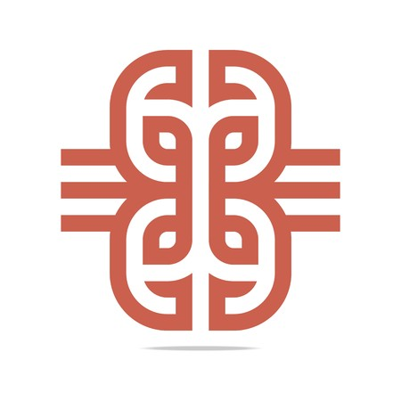 bussines: Logo Design Company Bussines Combination Abstract Vector Symbol Icon Illustration
