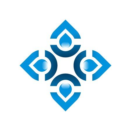 logos de empresas: Logo agua pura gota Símbolo del icono del vector de negocios de la aguamarina