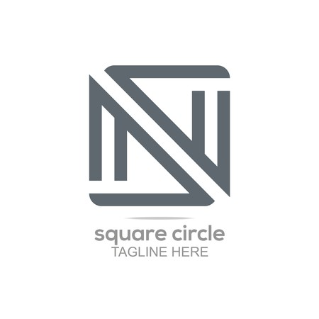 square abstract: Logo Square Infinity Lettering Connecting Abstract Symbol Icon Design Element