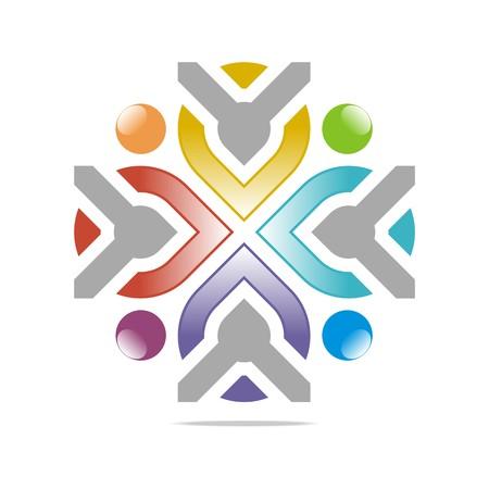 logo element: Logo Design Circle Arrow Icon Symbol Shape Element Vector