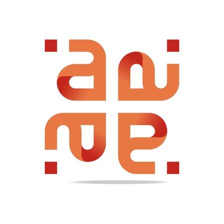 Logo Design Letter A Orange Symbol Icon Abstract Vector