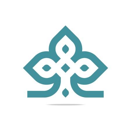 Logo Design Element Company Letter Symbol Plant Icon Ilustração