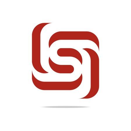ロゴ デザイン文字 S レッド スピン シンボル アイコン抽象的なベクトル