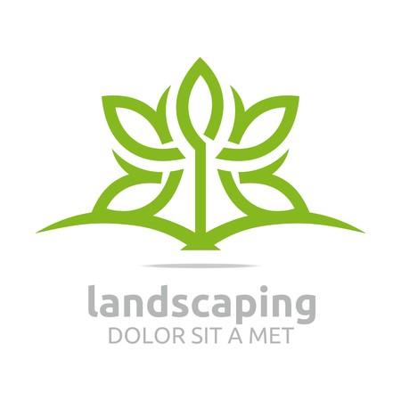 Abstract logo verlässt Landschaftsökologie Design Vektor- Standard-Bild - 45283927