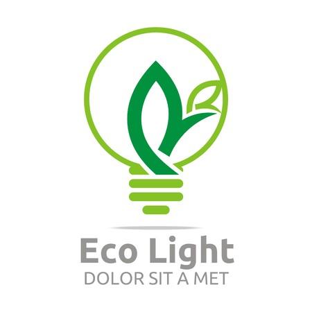 Abstract logo lamp eco light bulb design icon vector