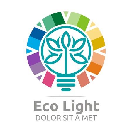 go inside: Design logo Eco Light lamp colorful