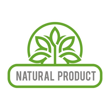 Logo natural product organic healthy garden design vector Çizim