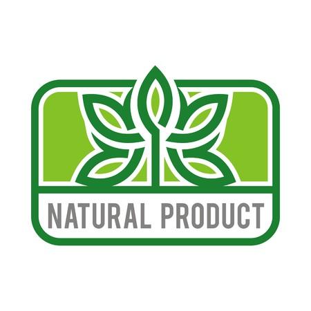 tuinontwerp: Logo natural product organic healthy garden design vector Stock Illustratie