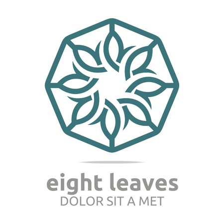 health and wellness: Abstract logo leaves circle ecology flora design vector