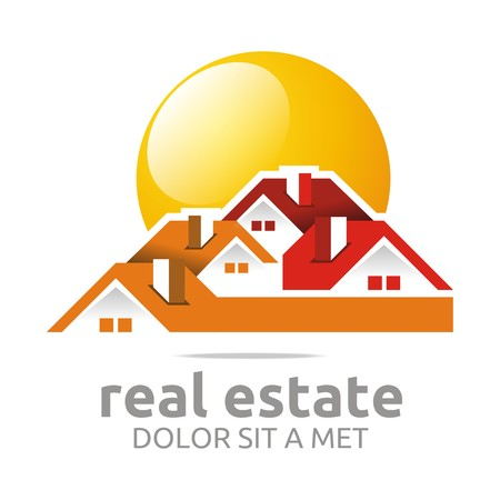 Logo design real estate buiding architecture house vector