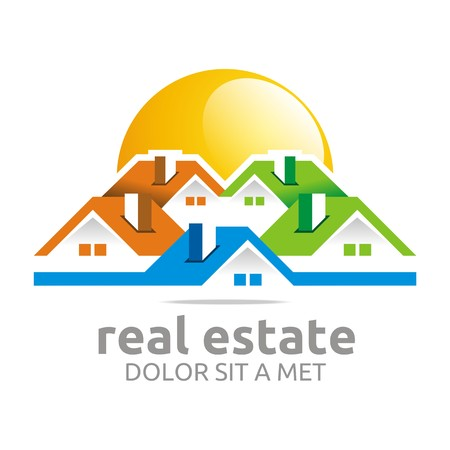 house logo: Logo design real estate buiding architecture house vector