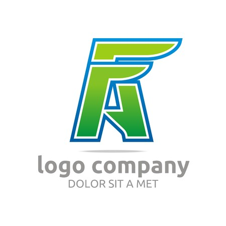 fa: Logo letter FA alphabet green company design symbol vector