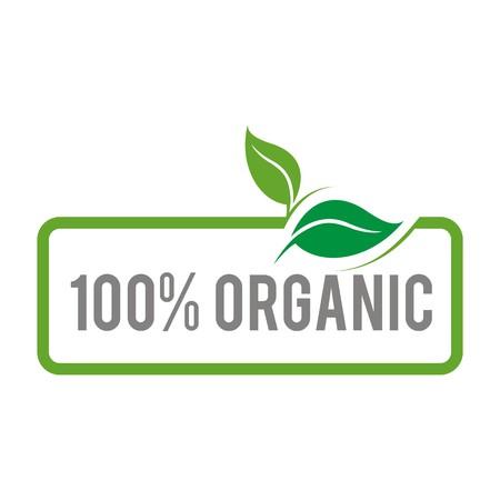 Logo natural product organic healthy garden design vector Illustration