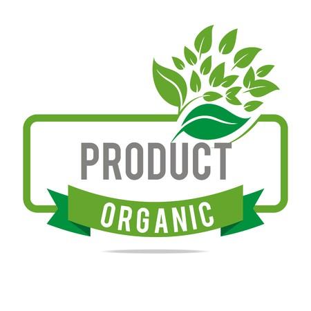 Logo natural product organic healthy garden design vector 向量圖像