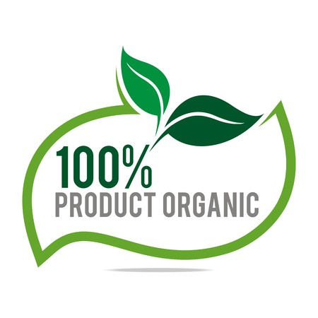Logo natural product organic healthy garden design vector Ilustrace