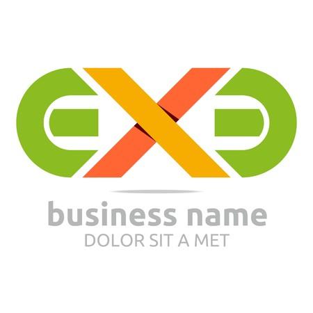 ex: Logo letter e x symbol vector Illustration