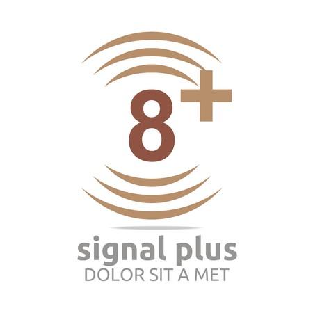 wireless signal: Logo Signal Plus Alphabet Number Wireless
