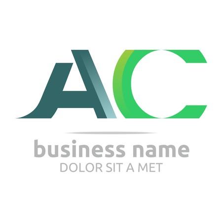 ca: Logo Alphabet Abstract Combination Shape Vector
