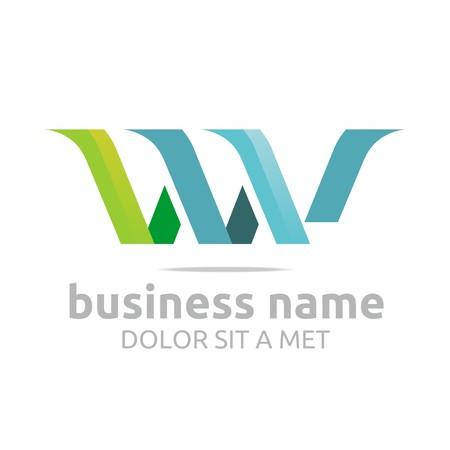 combination: Logo Alphabet Abstract Combination Shape Vector