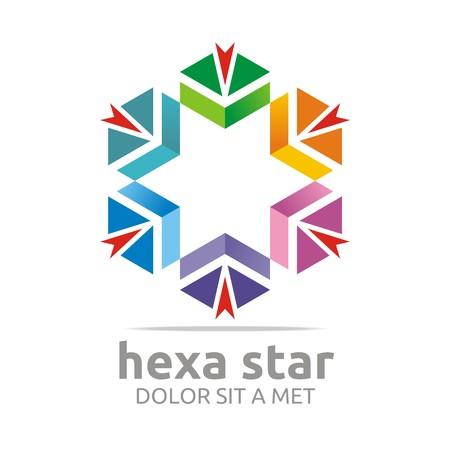 hexa: Logo Hexa Star House Arrow Design Icon Symbol Illustration
