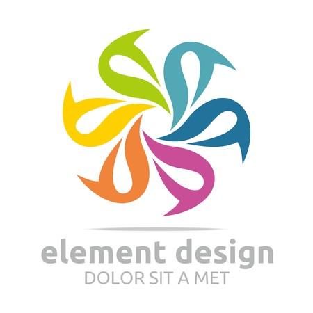 logo element: Logo Abstract Colorful Element Design Symbol Icon