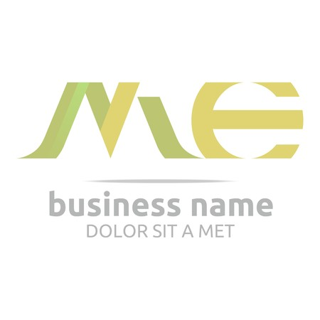 Logo Alphabet Abstract M Combination E Vector Illustration