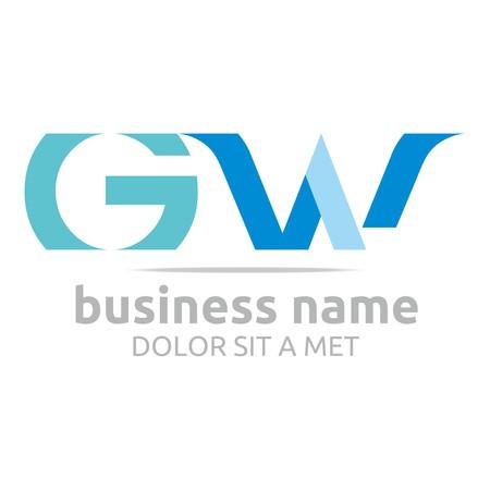 combination: Logo Alphabet Abstract G Combination W Vector