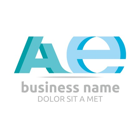combination: Logo Alphabet Abstract A Combination E Vector