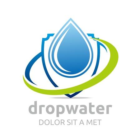 Logo Tropfen Wasser Vektor formt Symbol Standard-Bild - 45412240
