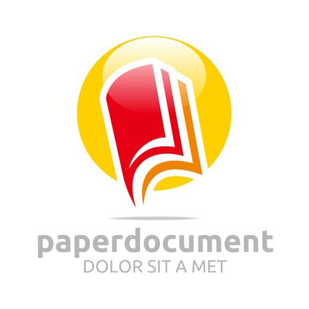 book pages: Logo document book study dictionary icon vector
