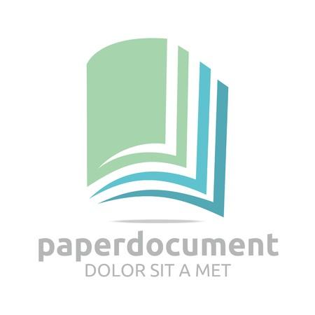 Logo Dokumentenbuch Studien Wörterbuch-Symbol Vektor- Standard-Bild - 45412318