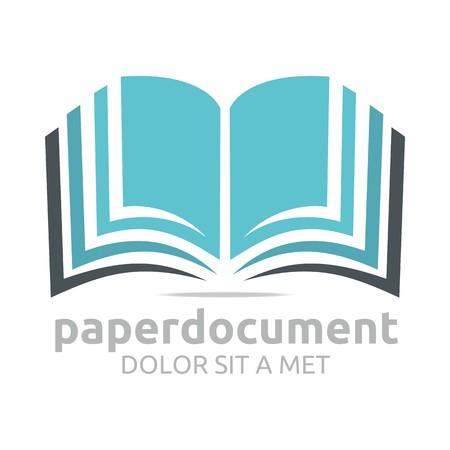 Documento Logo estudio libro icon diccionario vectorial Foto de archivo - 45412322