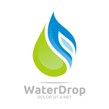 mineral oil: Logo Water Drop Symbol Icon Vector Business