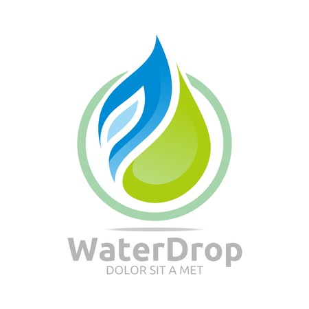 distilled water: Logo Water Drop Symbol Icon Vector Business