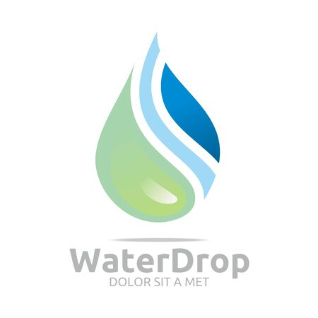 bottled water: Logo Water Drop Symbol Icon Vector Business