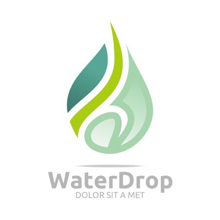 h2o: Logo Water Drop Symbol Icon Vector Business