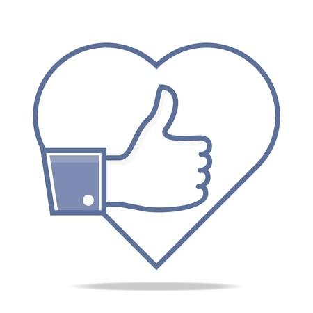 i net: Logo Thumb Up, i Like Icon Logo Design