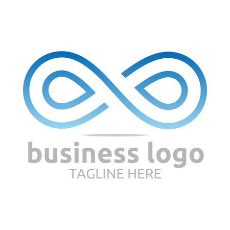 Business Logo Company Corporate Abstract Infinity Illustration
