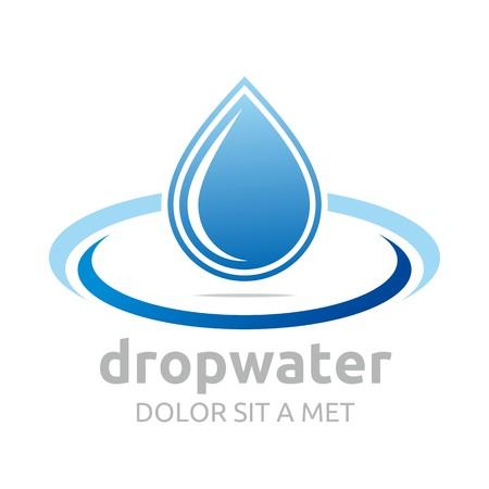 oil drops: Logo drop water vector shapes symbol